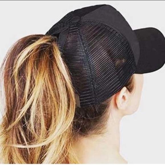 2019 High ponytail messy bun truckers mesh cap 7bf69b60c22
